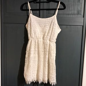 White Crochet Dress Sundress